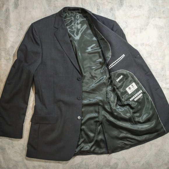 Austin Reed Suits Blazers Austin Reed Signature Super 0s Grayblue Blazer Poshmark